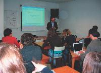 Au Celsa, son ancienne école, Assaël Adary, cogérant d'Occurence donne quinze heures de cours par mois