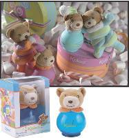 L'atout maître de la PME: des parfums, à la fois cadeaux et jouets, avec une peluche accrochée au bouchon.