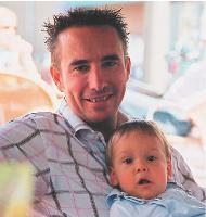 Arnaud Hacquart est père de trois enfants dont, ici, Anatole.