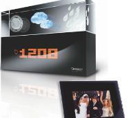 La station météo, «Cristal» d'Oregon Scientific et le cadre photo numérique de Telefunken: de beaux objets utiles pour moins de 100 euros.