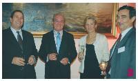 Gilbert Rebeyrole (président de la Chambre des métiers de Haute-Vienne), André Hurtaud (membre honoraire APCM), Elisabeth de Dieuleveult (APCM) et Ghislain du Jeu (ACFCI).
