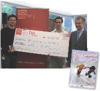 Guilhem Bertholet (à gauche) et Sylvain Tillon ont remporté la bourse be.project 2007 pour leur bande-dessinée pédagogique sur la création d'entreprise.