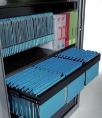 L'intégration de chassis extractibles pour classer des dossiers suspendus les rend plus facilement accessibles.