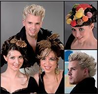 En proposant des coiffures à base de sucreries, le salon de Frédérique Montiel a attiré l'attention des journalistes et conquis ainsi de nouveaux clients.