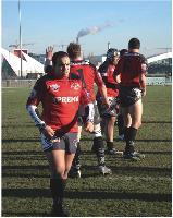 En sponsorisant l'équipe de rugby de Lagny-sur-Marne (Seine-et-Marne), Claude Prigent véhicule une image dynamique de son entreprise auprès des habitants de la commune.