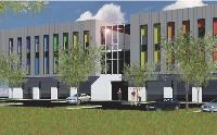Le bâtiment, d'une surface de 1 800 m2, est divisé en six espaces. Image oblige, les dirigeants ont opté pour un extérieur sobre et élégant.