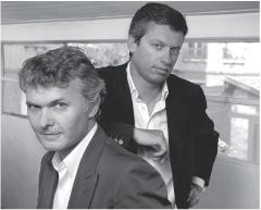 Xavier Cazard (à droite) gère, avec Stéphane Villey, Entrecom, une agence de communication.