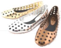 Mellow Yellow adapte son modèle phare aux pieds des petites filles : la ballerine à petits trous.