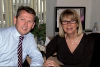 Jean-François Puisségur et sa tante, Marie-Dominique, de l'agence Ramel.
