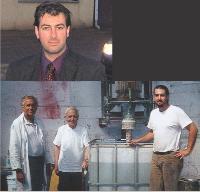 De gauche à droite: Jean-Pierre Laguerre avec son père, Pierre, et son fils, Christophe (ci-contre), arrivé à 18 ans aux Etablissements Laguerre pour découvrir le milieu, et aujourd'hui dirigeant de l'entreprise familiale.