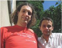 Antoine Brenner (à gauche) et Benjamin Lévy.