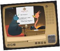 Leur nouveau produit destiné aux enfant est inspiré des talk-show américains: le Rich Morning Show, présenté par une drôle d'autruche.