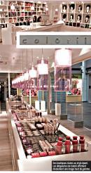 Des boutiques claires au style épuré. Les dirigeantes de Colorii affichent résolument une image haut de gamme.