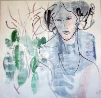 Ce tableau «sans titre» de l'artiste lilloise Bettina a été acquis par la Fondation Plage pour l'art en 2009.
