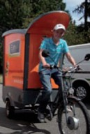 En 2009, Christophe Boisselier a créé un concept inédit : la vente de sandwich à vélo.