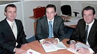 De gauche à droite: Jean-François Fellmann, Xavier du Couëdic, Guilain du Couëdic.