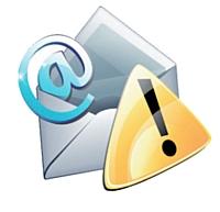 Un avertissement peut être envoyé par e-mail