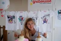 Charlotte Bohn, créatrice de Gribouille . Ses tee-shirts sont à colorier