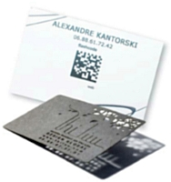 Des flashcodes intégrés, des cartes en acier ou en métal, aujourd'hui tout est possible.