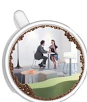 Le mobilier «comme à la maison» investit les espaces détente : canapé bas façon Steelcase (en haut) ou banquette plus intimiste pour Kinnarps (à droite).