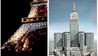 Après l'illumination de la tour Eiffel (à gauche), AE & T contribue au gigantesque chantier de la tour Dokkae, au coeur de la Mecque.