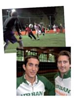Nicolas Warter (à dr.) et Victor Augais sont à la tête de 11 complexes de foot à cinq.
