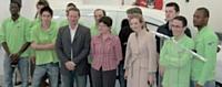 Forte de son positionnement vert, Logiperf a reçu la visite de la ministre de l'Ecologie, Nathalie KosciuskoMorizet en avril 2011.