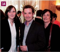 Gaëlle Finzi (Good Angel Media), Fabrice Claes (OKI) et Catherine Bonnange (Good Angel Media)