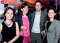 Gaelle Jouanne (Chef d'entreprise), Edith de Pontbriand (Dunod), Odat de Féline (Cabinet de Féline) et Valérie Alasluquetas (Adetem)