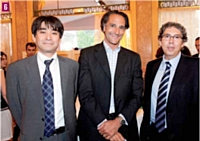 Junichiro Azuma (OKI), Hervé Lenglart (Editialis) et Gérard Bouhanna (OKI)