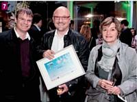 Florent Amo (Etablissement Agile), Gilles Laguet (PTP Industry) et Marie Rivaillier (Morphose)