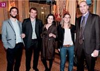 Julien Foucras et Thibaut Leroux (Hotel.info), Sophie Moreau (Chef d'entreprise), Marjolaine de Bonnafos (Hotel.info) et Mathieu Boullenger (Plus que parfait)
