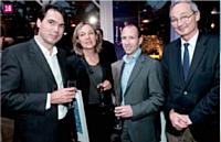 Geoffroy de Becdelièvre (PlanetVeo), Corinne Schoner (Bienfait et Associés), Renaud Mulvidson (Elendil) et Bernard Boulanger (Logoprom)