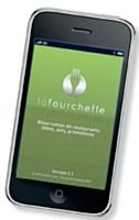 L'appli La Fourchette sur smartphone indique à son utilisateur les restaurants qui affichent des tarifs réduits.