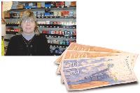 Françoise Davoine, buraliste, a récolté 2 550 francs, soit 388 euros, lors de l'opération spéciale organisée à la fin de l'année.