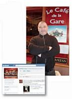 La page Facebook dédiée au Café de la gare de Franck Rivoli compte quelque 700 «fans» !