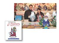 La présence d'une traductrice est bienvenue pour Jozsef Ambrus, présent sur le marché de Noël de Tokyo.