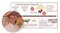 Gérée par Alexandre Conquet, neveu de Lucien, l'e-boutique booste la notoriété de la boucherie.
