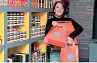 Sabine de Soyres veut faire de L'échoppe la version haut de gamme de la supérette de quartier.