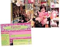 Créer du trafic sur son site pour inciter les clients à venir en magasin: telle est la recette de Sylvie Donné, fondatrice de Zigouzis.