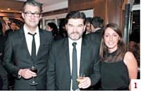 Mickaël Galateau et Domingos Lima Da Silva (Galateau Coiffure) et Mallory Lalanne (Commerce Magazine)