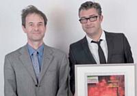 Pierre de Ricaud (CCIP) (à gauche) a remis le troisième prix à Mickaël Galateau.