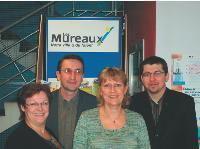 De gauche à droite: - Marie-Claude Redolfi, présidente de l'UCA des Mureaux - Ronan Kerisit, manager de ville - Patricia Hamard, maire adjointe chargée du commerce et de l'artisanat - Robert Rietmann, chargé de mission «Commerce et artisanat».