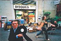 Chez Alain Boucher, CD et vinyles cohabitent.