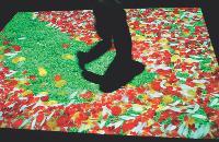 Quand un client marche sur le sol interactif, un décor est rétroprojeté à terre. Un procédé utilisé notamment pour le lancement d'un produit.