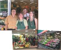 Erick Patour dirige avec sa femme (en haut, à droite) deux magasins de fleurs.