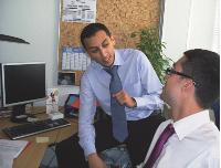 Youssef Ait Brahim et Vincent Gariazzo, conseillers à la CCI du Val-de-Marne.