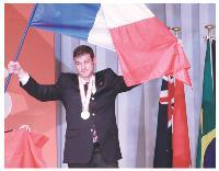 Barthélémy Papineau a reçu une médaille d'or en boulangerie.