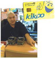 Daniel Dubut, président de l'Ucac. Convaincu par les avantages de la carte Kikoo, il en a doté son pressing.