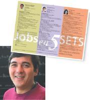 Thomas Cahen aide les candidats en recherche d'emploi en publiant leur CV sur des sets de table.